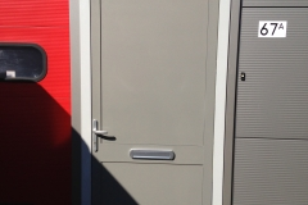 Aluminium buitendeur eindresultaat